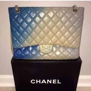 Chanel RARE Ombre Lambskin Leather Flap Bag